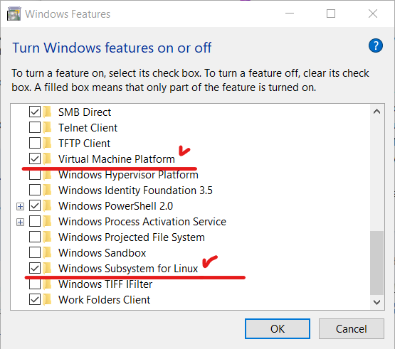 Enable Windows Features